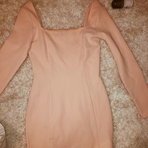 fitted light pink dress